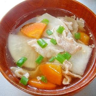 大根と豚肉の和風スープ