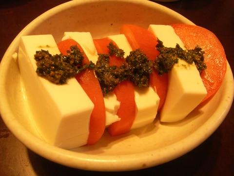 豆腐で和風カプレーゼ