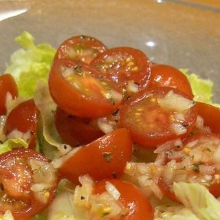 玉ねぎとミニトマトのかんたんイタリアンハーブマリネ