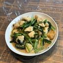 鶏むね肉と小松菜のめんつゆ炒め