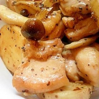 ☆鶏肉と長芋のオイスター炒め☆