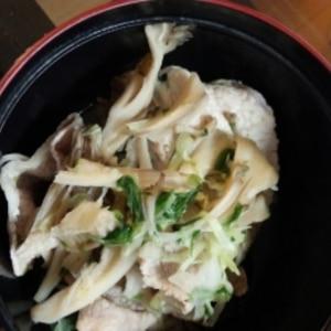 時短♪簡単♪レシピ★水菜と舞茸の和え物