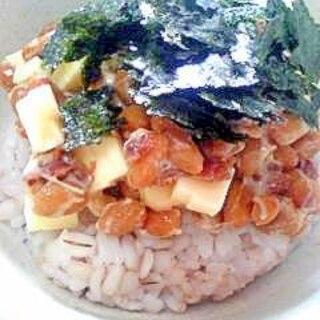 納豆の食べ方-梅&チーズ♪