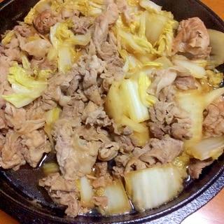 豚肉こま切れ白菜炒め