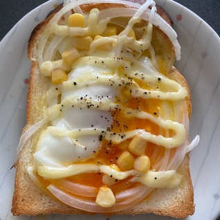 半熟卵トースト♪