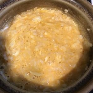 鍋のシメに!キムチ鍋のチーズリゾット