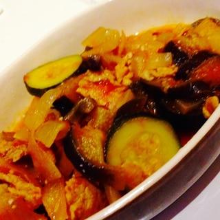 夏野菜たっぷり!メイン料理のラタトゥイユ♡