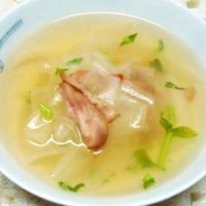 身体がぽかぽか♪スライス大根のスープ煮