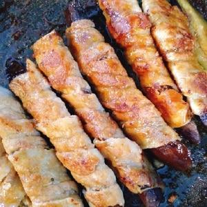 甘辛だれでご飯がススム!茄子の豚バラ巻き
