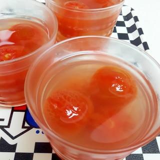 子供が大好き(^^)プチトマトの蜂蜜レモンゼリー♪