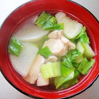 大根と鶏ムネ肉の和風スープ