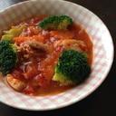 圧力鍋で柔らか♪鶏もも肉のトマト煮込みスープ