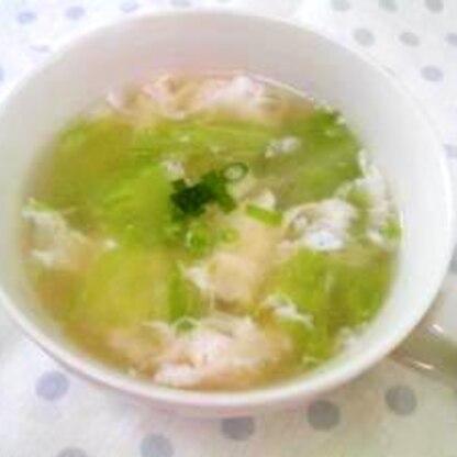 卵白の消費に!レタスとフワフワ卵の中華スープ