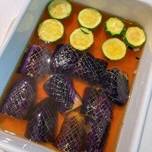 めんつゆで簡単♪茄子とししとうの揚げ浸し