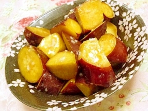 清酒で煮る❤塩麹と蜂蜜生姜の薩摩芋煮❤