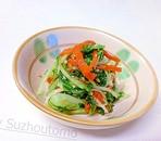 水菜とにんじんのごま和え