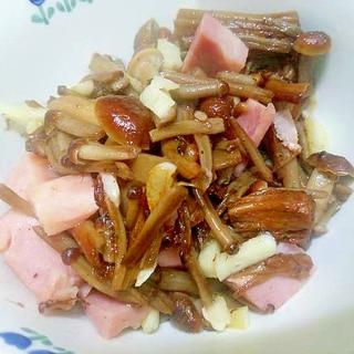 かきの木茸ベーコン炒め/にんにく風味