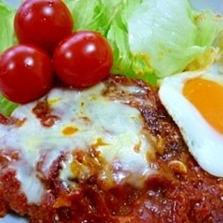 *定番*トマト缶で煮込みハンバーグ