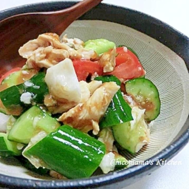 梅でさっぱり☆ササミのおかずサラダ