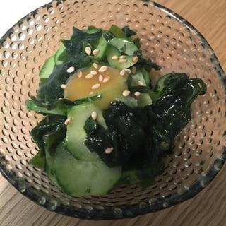 きゅうりとワカメの辛子酢味噌