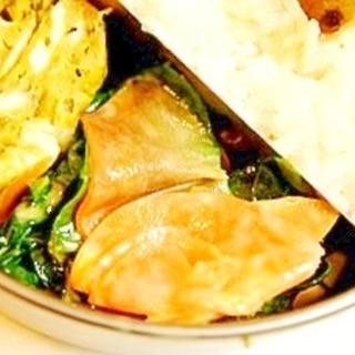 レンジで簡単、にんじんとほうれん草の辛子味噌マヨ