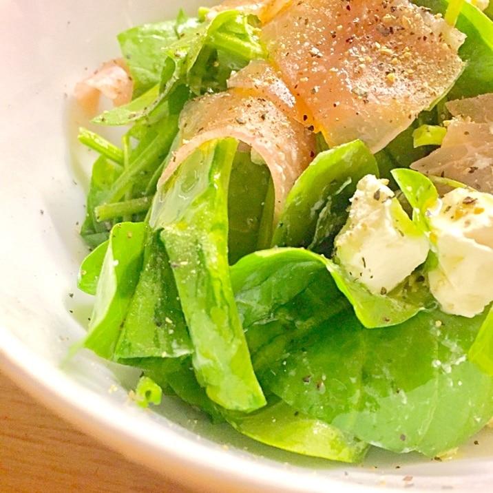 簡単♪お洒落♪美味しい♪生ハムとほうれん草のサラダ