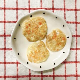 【離乳食中期】納豆と豆腐と人参のおやき
