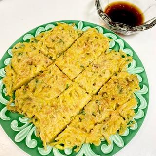 ☆余った麺で、カリッもちチヂミ☆