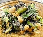 小松菜、大豆、ひじきのマヨ和え