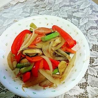 夏野菜たっぷりの野菜炒め、焼肉のたれ風味