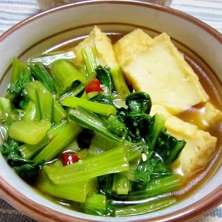 小松菜と厚揚げの中華煮