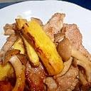 さつまいもと豚肉の炒め物