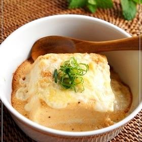 かけて焼くだけdeうま~!豆腐の明太マヨチーズ焼き