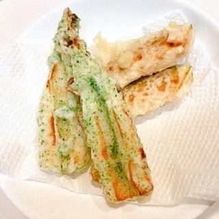 美味しい☆かぼちゃの天ぷらとちくわの磯辺揚げ
