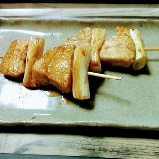 我が家の葱まぐろ(ねぎま)の串焼き