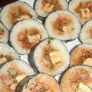 甘辛豚玉海苔巻き