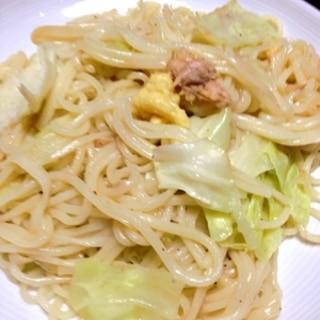 生姜とオイスターソースの半田麺チャンプルー