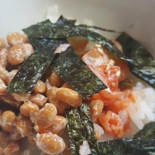亜麻仁油♪納豆キムチご飯