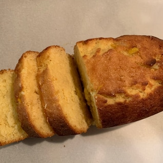 ジャムでレモンのパウンドケーキ