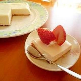 裏技レアチーズケーキ風