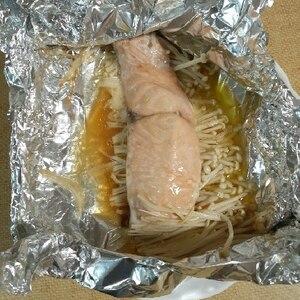 鮭とたっぷりきのこのバタポンホイル焼き