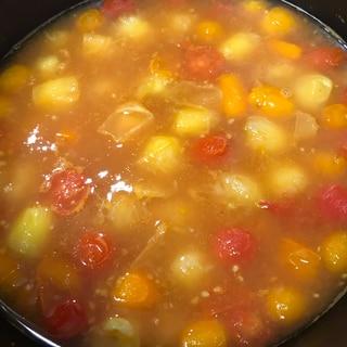 ミニトマトの大量消費!トマトスープ