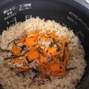 ツナ缶と塩昆布の炊き込みご飯