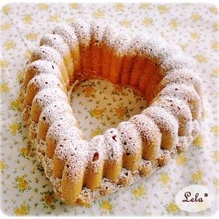 ハートのバナナケーキ