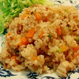エノキのエコうまポン酢チャーハン
