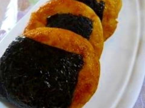 おから餅 ~醤油と海苔で巻いて~