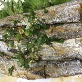 太刀魚のバターポン酢炒め