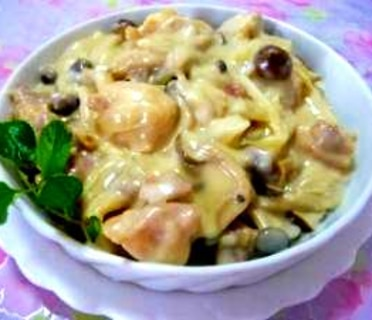 バター不要★鶏肉のクリーム煮