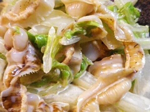 貝ひもの白菜サラダ