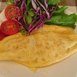 レンズ豆のチーズinオムレツ